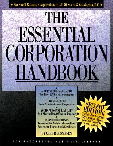 The essential corporation handbook