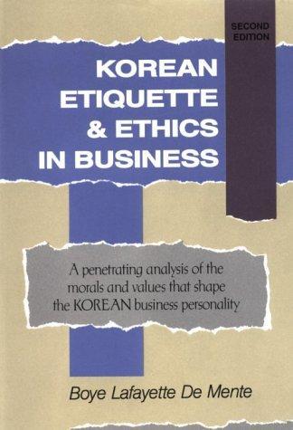 Download Korean etiquette & ethics in business