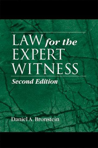 Download Law for the expert witness