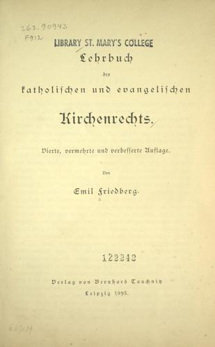 Download Lehrbuch des katholischen und evangelischen Kirchenrechts.
