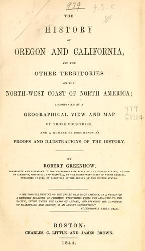 Download The history of Oregon and California & the other territories of the northwest coast of North America