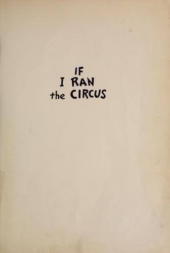 Download If I ran the circus