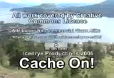 Still frame from: Icenrye's Geocaching Videozine - Microcache Edition - Episode 2.