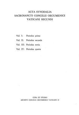 Cover of: Acta synodalia Sacrosancti Concilii Oecumenici Vaticani II. Volumen I: Periodus prima. Pars II |