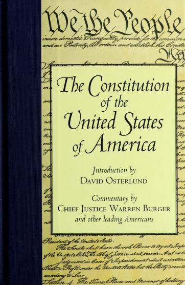 The Constitution of the United States of America by United States