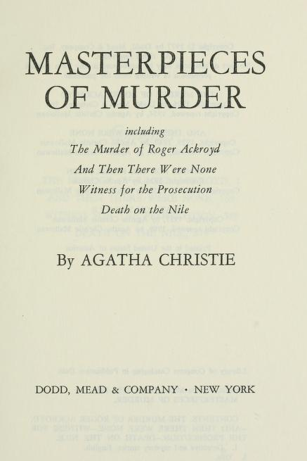 Masterpieces of murder by Agatha Christie