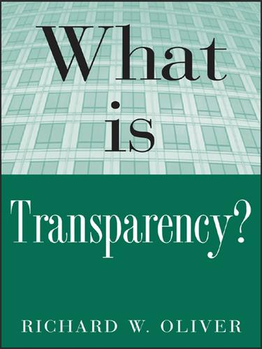 What is Transparency? by