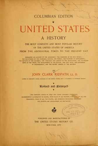 United States; a history
