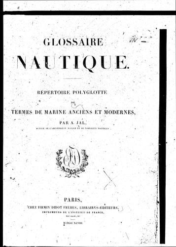 Glossaire nautique by A. Jal