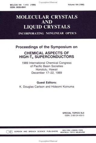 Proceedings of the Symposium on Chemical Aspects of High-Tc Superconductors by D. Carlson