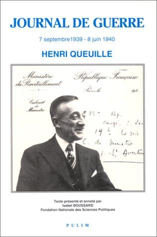 Journal de guerre by Henri Queuille
